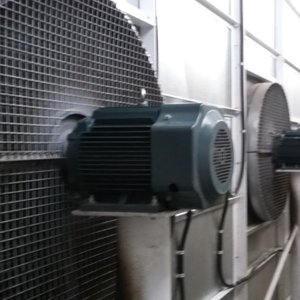 Axial extract fan silencing at source