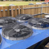 Chiller fan noise reduction
