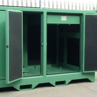 Power pack damped  acoustic enclosure
