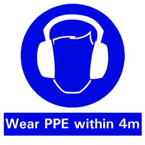 ppe sign mobile plant