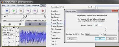 record-speed-change